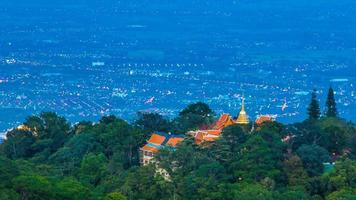 Time Lapse Wat Phra That Doi Suthep On Mountain Of Chiang Mai, Thailand