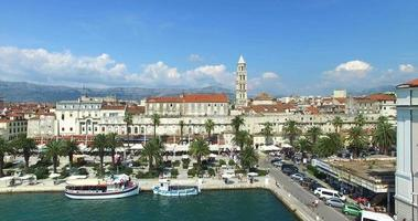 Aerial view of Split, Croatia video