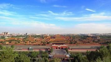 Aerial view of Forbidden City in Beijing video