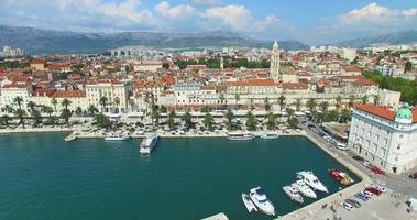 vista aerea del porto turistico di Spalato