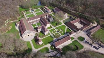 Borgogna, veduta aerea dell'Abbaye de Fontenay