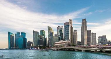 4k Singapore of the marina bay