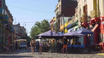 Street shot of Caminito, La Boca