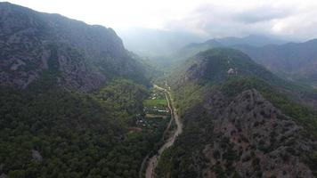 Flying Over Beautiful Valley, Antalya, Turkey. Captured by Drone Cam video