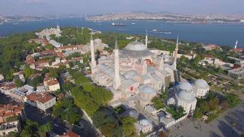 paisagem de istambul, mesquita hagia sophia video
