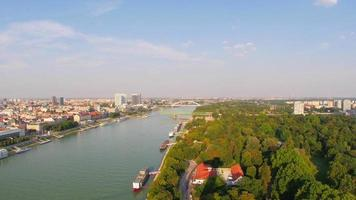 Vista de la ciudad vieja de Bratislava, Eslovaquia