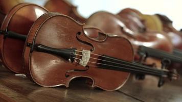 Nahaufnahme von Geigen video