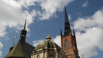 lapso de tempo da igreja de Riddarholm video