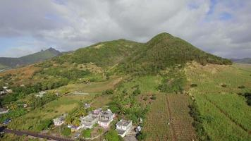 scena aerea della terraferma verde mauritius