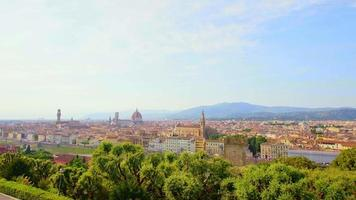 vista di firenze al tramonto, italia video