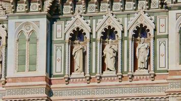 Nahaufnahme der Basilika von Santa Maria del Fiore in Florenz