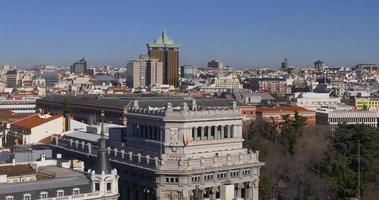 espanha madrid day light roof top panorama 4k video