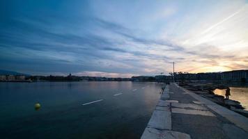 Paquis Pier Tag bis Nacht Zeitraffer