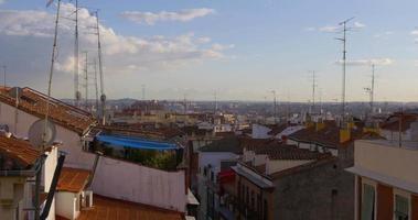 Spagna madrid giornata di sole centro tetti vista panoramica 4K