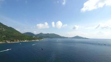 paisagem de ilha koh tao video