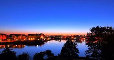 Sunrise time-lapse matin, soleil dans le ciel, Victoria BC Canada
