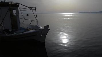 Small Fishing Boats In a Bay in Kassandra, Greece video