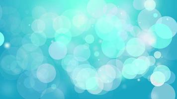 4k saubere blaue glatte Bokeh Animation Hintergrund nahtlose Schleife. video