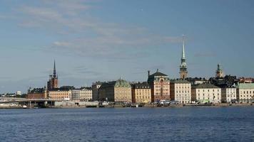 Casco antiguo de Gamla Stan en Estocolmo video