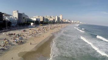 Aerial view of Ipanema beach at Rio de Janeiro, Brazil