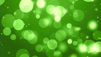 4k verde bokeh animazione sfondo seamless loop. video