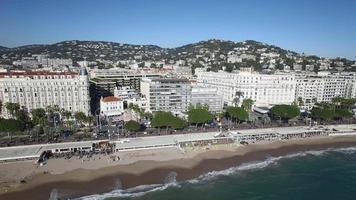 vista aérea de cannes, a croisette, 4k, filme uhdv (3840x2160) video