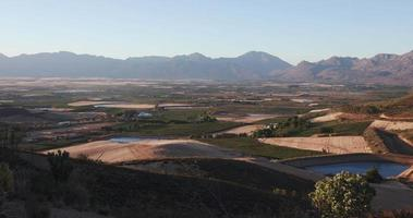 Panoramic shot of famous fruit growing Ceres valley video