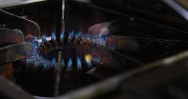 gros plan, de, brûleur gaz video