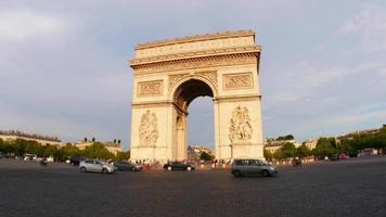 Champs Elysees at sunset in Paris France