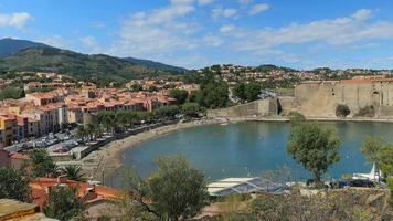 Collioure, bay of village in the south of France, Pyrenees Orientales, Languedoc Roussillon