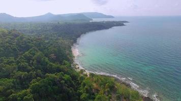 Aerial view of Koh Kood Island coastline - Thailand video