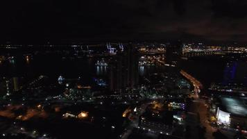 vidéo aérienne miami beach la nuit