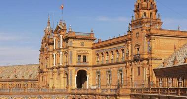 parte principale della plaza de espana esterno sole giorno luce 4k spagna siviglia