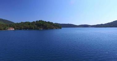 Aerial view of beautiful Mljet Island, Croatia video