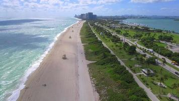 Aerial footage Haulover Beach FL