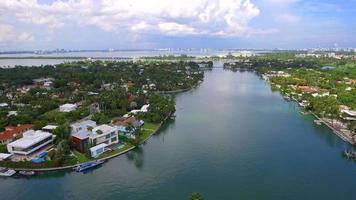 Luftaufnahmen Wasserstand steigen Miami Beach