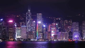 Lapso de tempo de 4k da cidade de hong kong, vista do porto de Victoria video