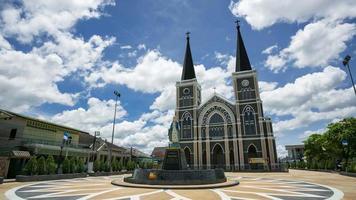 Hyperlapse of Patisonthi Niramol historical Catholic church