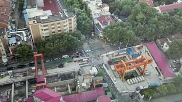 vista de la ciudad de shanghai, 4k, disparo cronometrado, vista nocturna