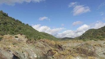 panoramique vue paysage de montagne