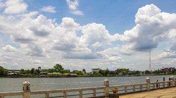 nuvole che si muovono intorno al fiume