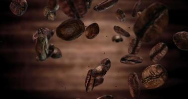 4K Coffee Beans Falling Down Loop video