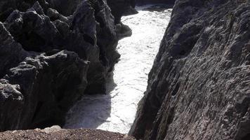 Waterfall in the Lava Fields video