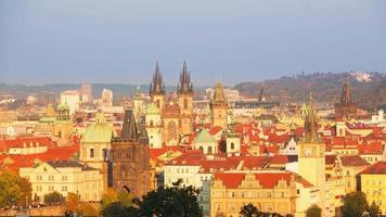 Quick Evening in Prague. Time Lapse UHD