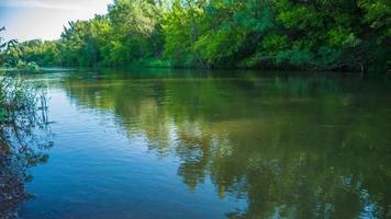Fluss Natur sonniger Tag Urlaubsreise Zeitraffer video