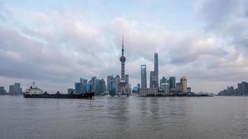 paisagem urbana de Xangai, lapso de tempo 4k video