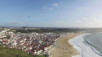 Top View in the Portuguese Town of Nazare video