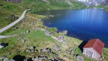 imagens aéreas do antigo assentamento norueguês video