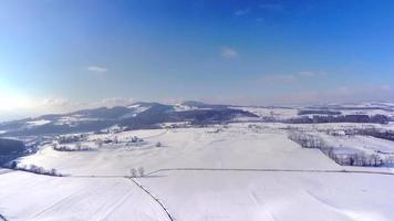 4k Schweizer Landschaft im Winter - Antenne video