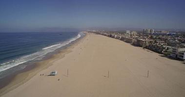 Vue aérienne de Venice Beach et Marina del Rey - Los Angeles, Californie, USA video
